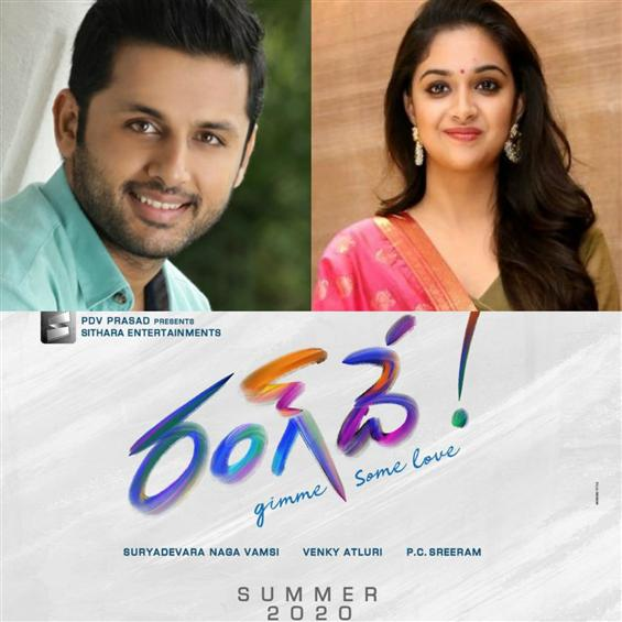 Nithiin's next film with Keerthy Suresh titled Ran...