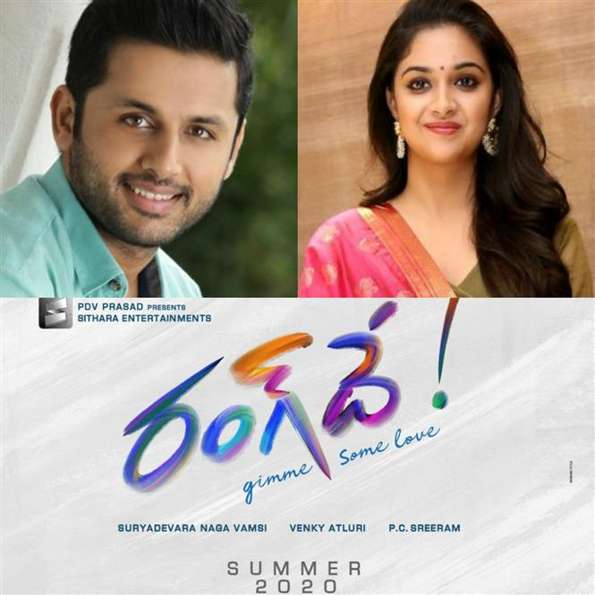 Nithiin's next film with Keerthy Suresh titled Rang De