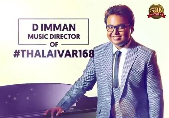 Official: D.Imman to score music for Rajinikanth's...