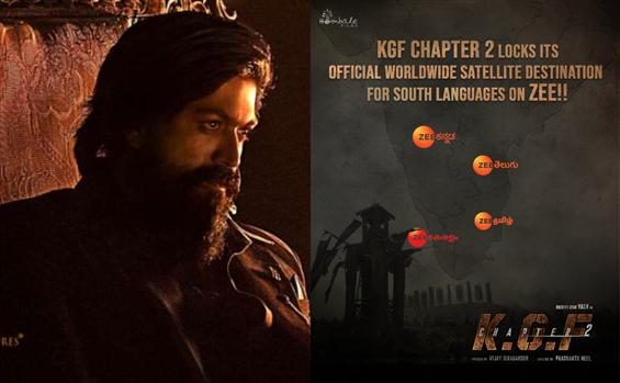 Official: KGF Chapter 2 South Satellite Rights bagged by Zee!