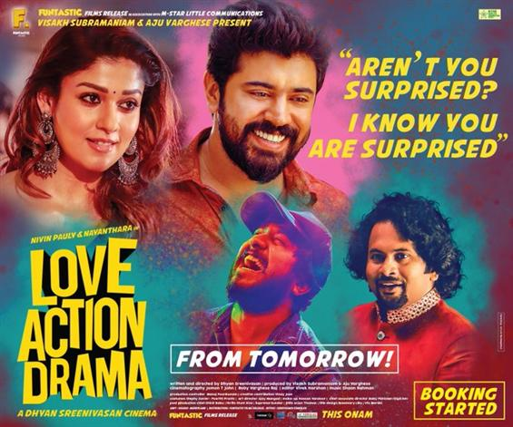 Official: Nivin Pauly - Nayanthara starrer Love Action Drama to release tomorrow