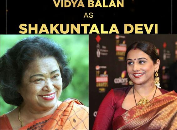 Official: Vidya Balan announces Shakuntala Devi Bi...