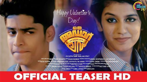 Oru Adaar Love Teaser for Valentine's day feat. Priya Prakash Varrier!