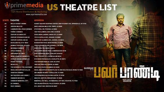 Pa Pandi USA Theater list
