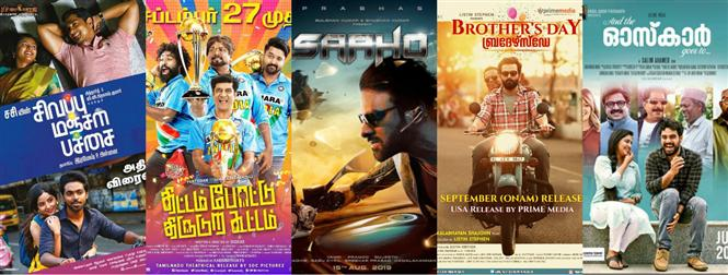 Pre-Diwali weekend releases - Saaho,  Brother's Day and lots more