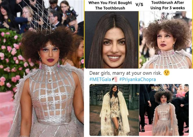 Priyanka Chopra's Met Gala 2019 Look Turns into a MEME & butt of jokes!