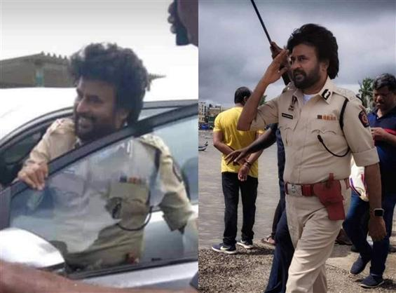 Rajikanth's cop avatar revealed in Darbar shooting spot stills!