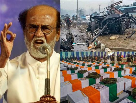 Rajinikanth condemns Pulwama Terror Attack as cele...
