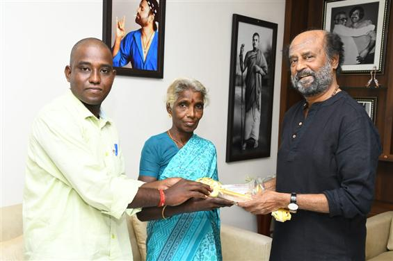 Rajinikanth gifts homes to Gaja Cyclone Victims!