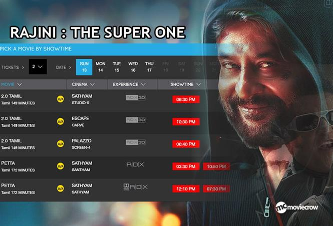 Rajinikanth is the ultimate Super One: His last film 2.0 running to packed houses even after Petta release