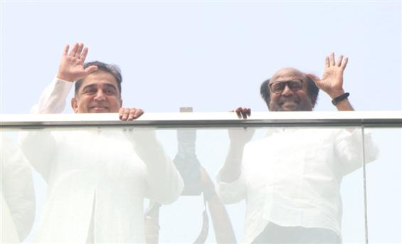 Rajinikanth, Kamal Haasan come together for their ...