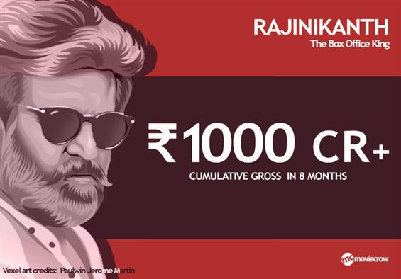 Rajinikanth sets the box office on fire; contributes Rs.1000+ Crore in the last 8 months