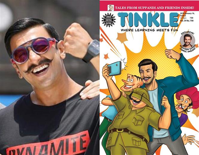 Ranveer Singh in a comic story on the popular Tinkle!