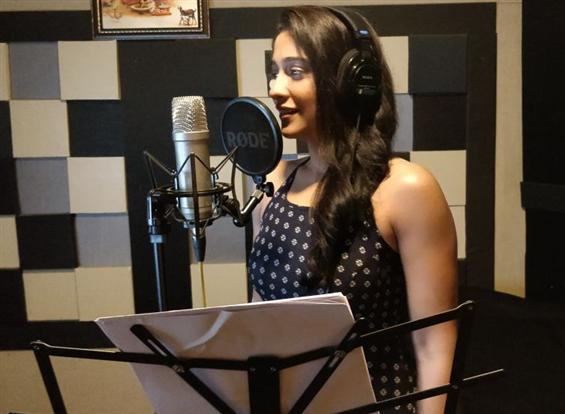 Regina Cassandra dubs her voice in Tamil for the first time