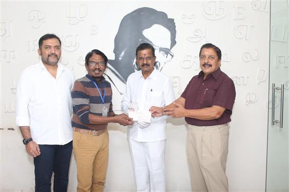 Rs. 1.5 Cr. donated from Soorarai Pottru profits to Tamil Film Industry!