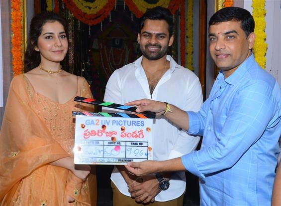 Sai Dharam Tej - Raashi Khanna's new film begins w...