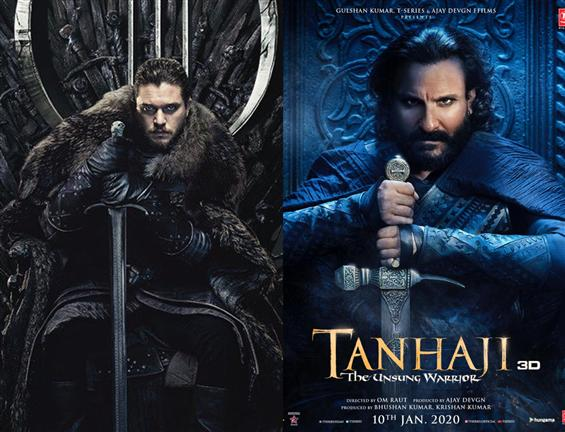 Saif Ali Khan gives GOT's Jon Snow Vibes in Tanhaji Poster!