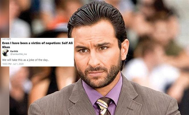 Saif Ali Khan says he was a victim of nepotism too! Internet agrees to disagree!