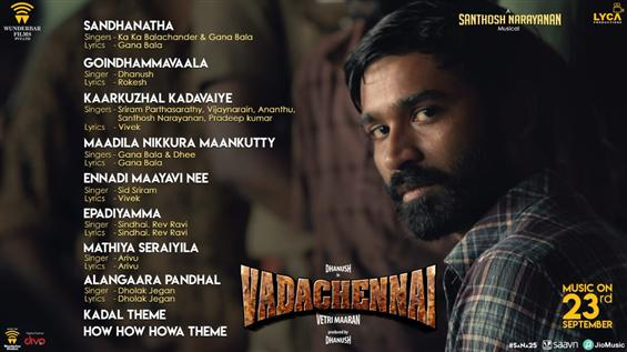 SaNa25: Vada Chennai Tracklist is here