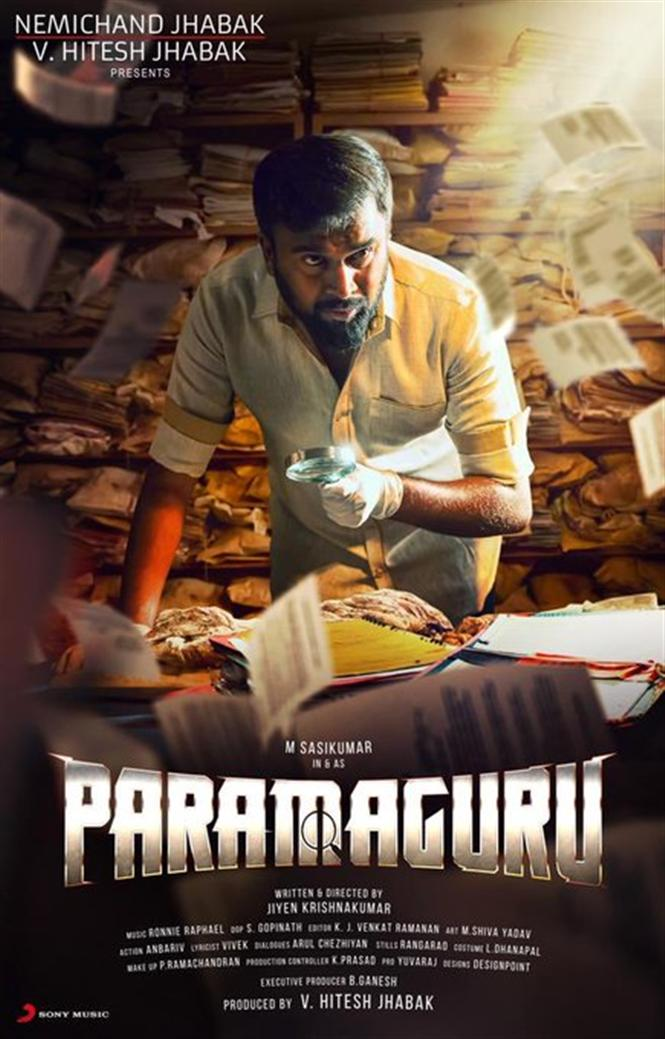 Sasikumar's next titled Paramaguru! First Look Out Now