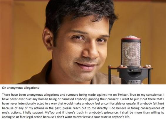 Singer Karthik breaks his silence on MeToo Allegat...
