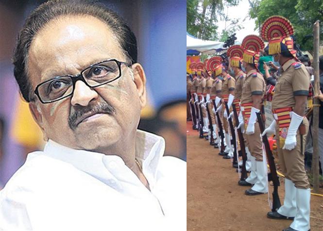 SP Balasubrahmanyam bid adieu with full state funeral & police honours!