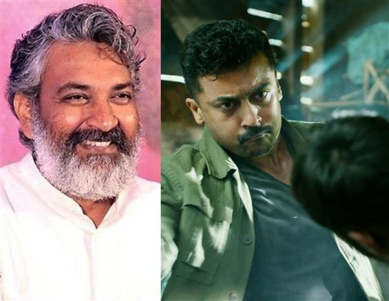 S.S. Rajamouli to unveil Kaappaan Telugu Title!