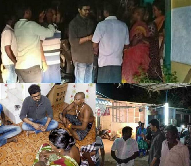 Actor Vijay made surprise visit to Thoothukudi