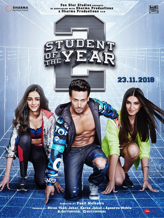 Student Of The Year 2 First look Poster featuring all lead actors