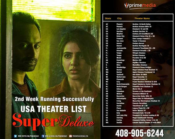 Super Deluxe - USA  2nd Week Showtimes