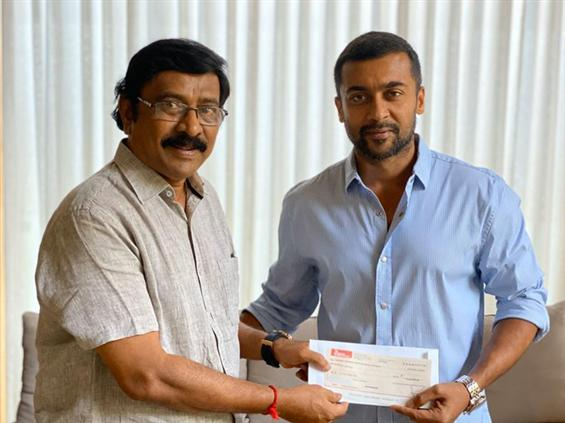 Suriya donates Rs. 10 lakh towards Tamil Nadu Film...