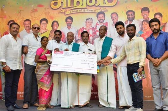 Suriya's generous gesture at Kadaikutty Singam Success Meet!