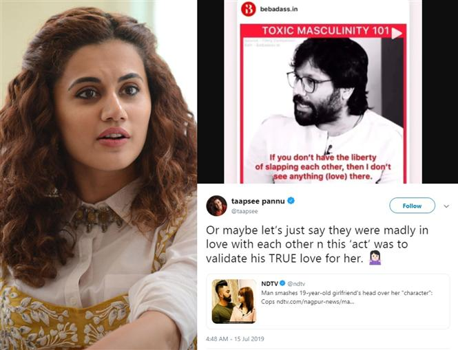 Taapsee Pannu's dig at Kabir Singh director leaves Twitterati unimpressed! Here's Why: