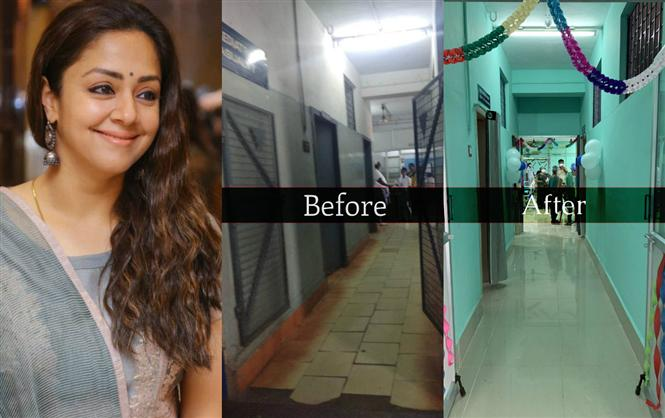 Take a look on how Jyotika's hefty donation transforms a government hospital!