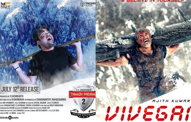 Tamizh Padam 2 poster spoofs Ajith's Vivegam