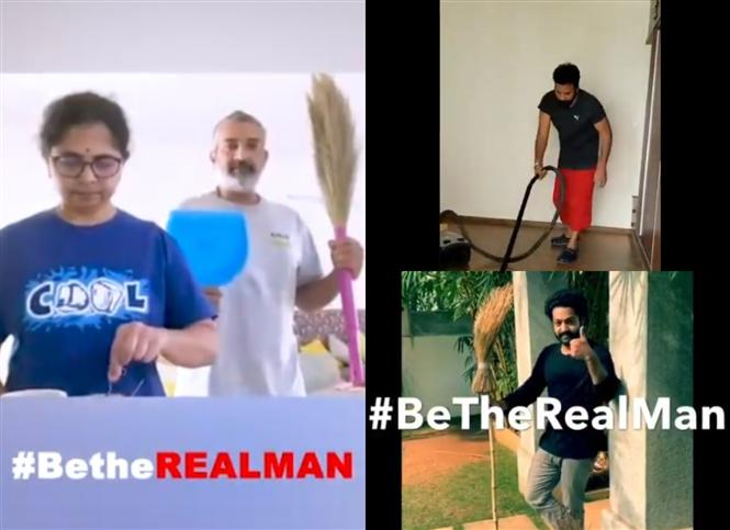 Telugu Film Industry Stars show how to be the real man in Quarantine!