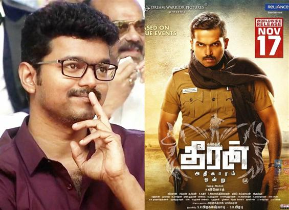 Thalapathy Vijay is floored by Theeran