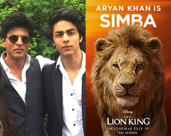 The Lion King: Shah Rukh Khan & son Aryan Khan voi...