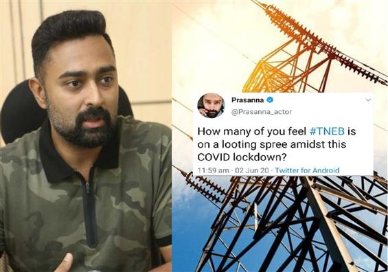 TNEB issues official reply to actor Prasanna after his viral tweet!