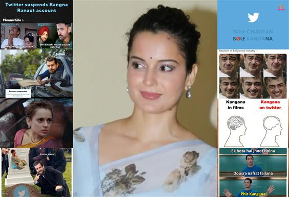 Twitterati make light of Kangana Ranaut's suspensi...
