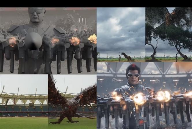 Unseen VFX Breakdown Video of Rajinikanth's 2.0!
