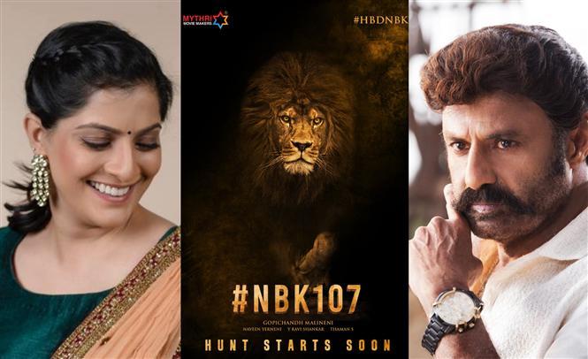 Varalaxmi Sarathkumar joins NBK 107!