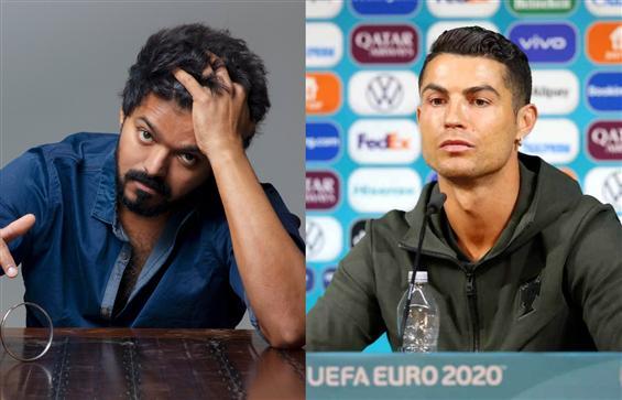 Vijay fans compare Ronaldo's Coca-cola snub to act...