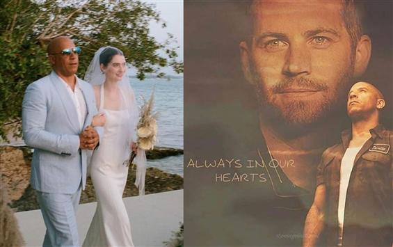 Vin Diesel walks Paul Walker's daughter down the a...