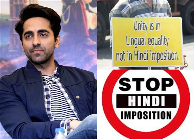 When Hindi-lover Ayushmann Khurrana batted against 'Hindi Imposition'!