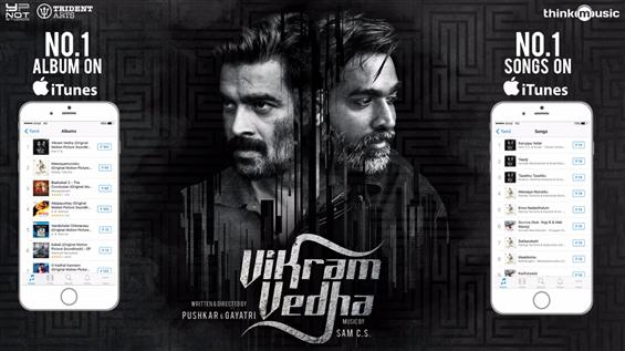 Yaanji from Vikram Vedha tops music charts on all platforms  - Movie Poster
