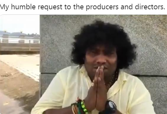 Yogi Babu makes a humble request to film producers...